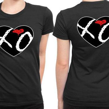 VONEED6 The Weeknd Xo Love Logo 2 Sided Womens T Shirt