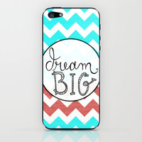 Dream Big Chevron iPhone & iPod Skin by Misty Diller of Misty Michelle Design