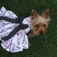 Lavender Ruffle Dog Dress Customizable to your dogs measurements!  Size  XXS XS Small