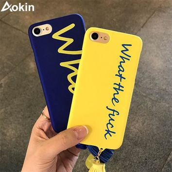 Aokin Cartoon What the Character Case For iPhone X 8 7 6 6s Plus 5 5s SE Frosted Hard Cover For iPhone 5 5S SE Phone Cases Coque