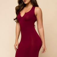 Skylin Dress - Burgundy