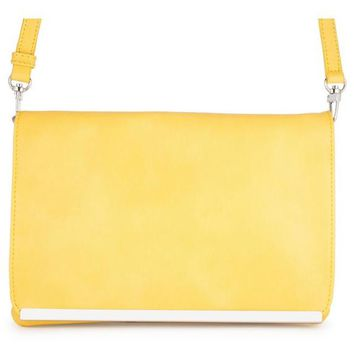 Yellow & Silver Bar Purse