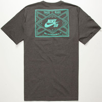 Nike Sb Dd2 Mens T-Shirt Heather Black  In Sizes