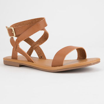 CITY CLASSIFIED Basic Ankle Wrap Womens Sandals