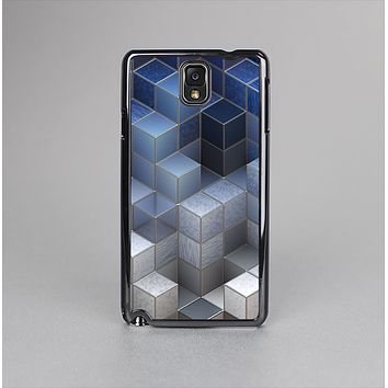 The Blue and Gray 3D Cubes Skin-Sert Case for the Samsung Galaxy Note 3