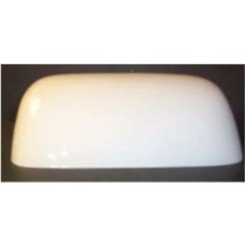 "63508 -white Glass Bankers Lampshade 5 1/4 "" X 9"" Length X 3/8"" Side Holes - 63508 - Glass Pharmacy Shade Adriana's Bankers Lamp Shades"