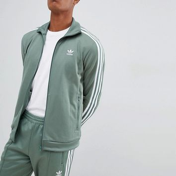 adidas Originals Beckenbauer Tracksuit in Green at asos.com
