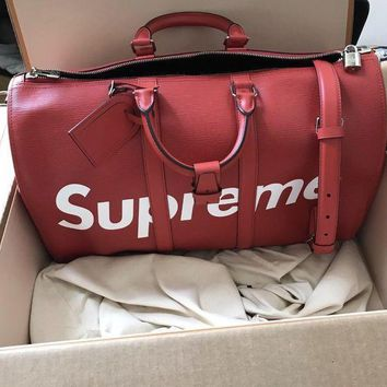 DCCK Louis Vuitton LV X Supreme Duffel Bag