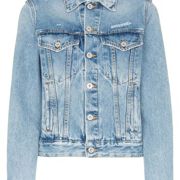 Ladies Classic Washed Denim Jacket by OFF-WHITE