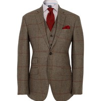 POW Country Check  Suit | Hackett