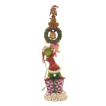 Jim Shore STACKED GRINCH CHARACTERS Polyresin Dr Seuss 6002066