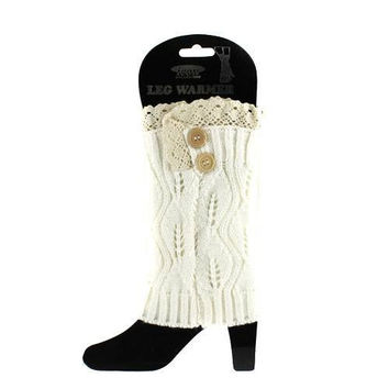 Darling Cable Knit  Leg Warmers Monogramming available!