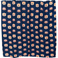NCAA Auburn Tigers Shower Curtain Bathroom Decoration