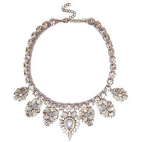 Pale pink gem stone statement necklace - necklaces - jewellery - women