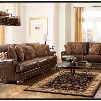 Ashley Antique Sofa & loveseat