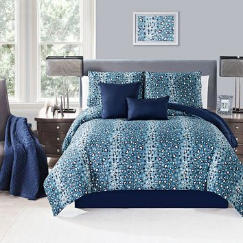 Victoria Classics Lazaro 6-pc. Reversible Comforter & Coverlet Set (Blue)