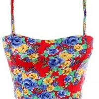 The Red Floral Summer Corset - 29 N Under