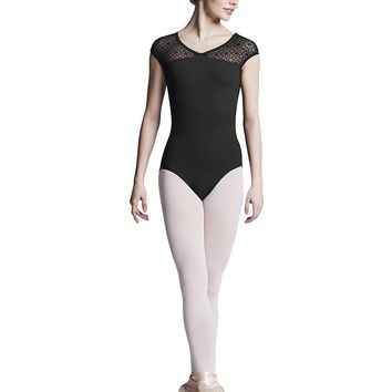 Keyhole Back Cap Sleeve Leotard (Adult) L9562 Bloch (Black)
