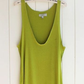V-neck Loose Tank - Green