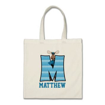 Blue Moose Kid's Monogram Letter M Budget Tote Bag