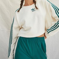 Adidas Cropped Snap-Button Sweatshirt