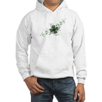 Elegant Shamrock Hooded Sweatshirt
