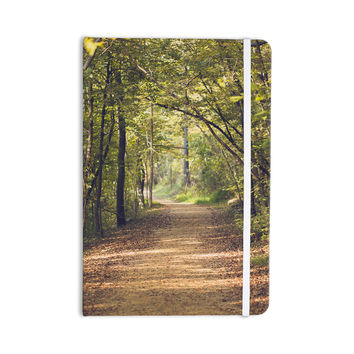 "Ann Barnes ""Forest Light"" Nature Photography Trees Green Everything Notebook"