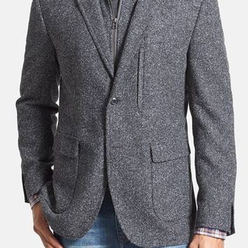 Men's JKT New York 'Royal' Regular Fit Boucle Blazer with Removable Bib