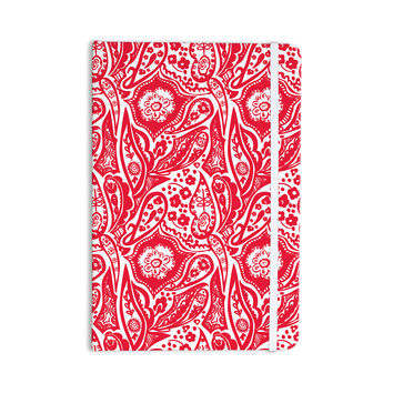 "Agnes Schugardt ""Paisley"" Paisley Red Everything Notebook"