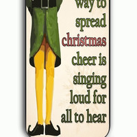 iPhone 5C Case - Rubber (TPU) Cover with Christmas Elf Quote Rubber Case Design