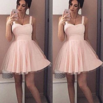 Women Lace Swing Skater Dress Sexy Strap Sleeveless Tulle Dress Elegant Female Party Club Beach Mini Dress Summer Sundress