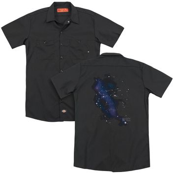 Star Trek - Spock Constellations (Back Print) Adult Work Shirt