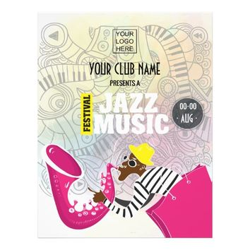 Colorful Jazz Music Festival add photo and logo Flyer