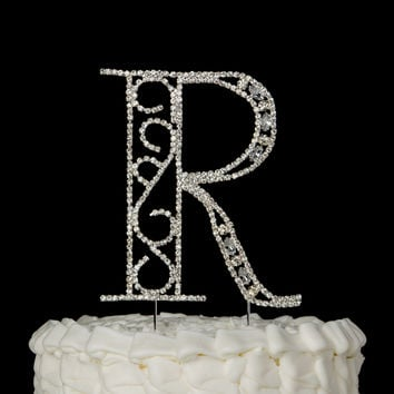 wedding cake topper letter r best monogram cake toppers products on wanelo 26350