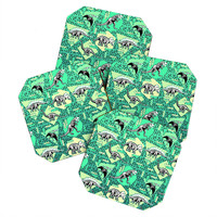 Chobopop Nineties Dinosaur Skeleton Pattern Coaster Set