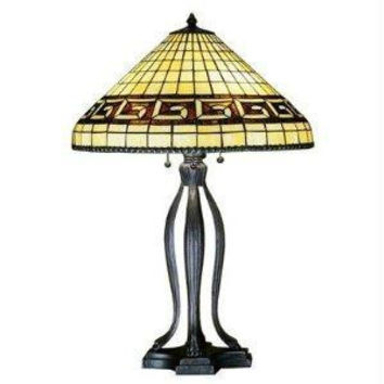 30 Inch H Greek Key Table Lamp Table Lamps