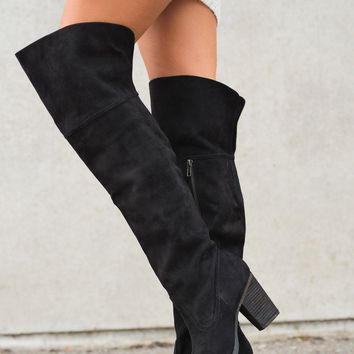 Sugar Land Over The Knee Boots (Black)