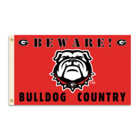 NCAA Georgia Bulldogs 3 Ft. X 5 Ft. Flag W/Grommets - Country