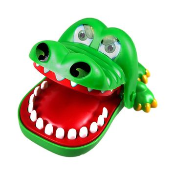 Crocodile Mouth Dentist Bite Finger Toy Large Crocodile Pulling Teeth Bar Games Toys Kids Funny Toy For Children Gift