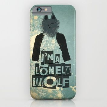 I'm a lonely wolf iPhone & iPod Case by Easyposters