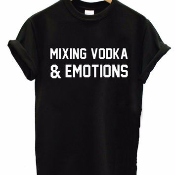 MIXING VODKA & EMOTIONS Women's Casual T-Shirt