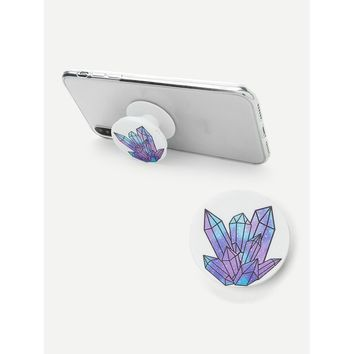 Crystal Pattern Round Portable Phone Holder