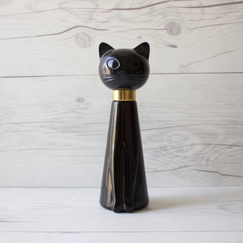 Vintage Avon Black Cat Perfume Bottle | Tabitha Birds of Paradise Cologne Spray