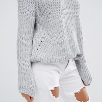 Missguided Chenille Chunky Knit Sweater at asos.com