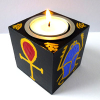 Hand-painted Ancient Egyptian Tealight Holder