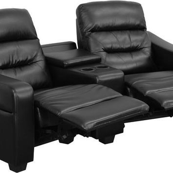 Futura Series Reclining Leather Theater Seating Unit