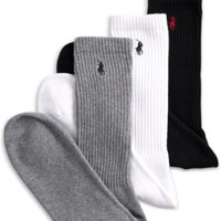 Polo Ralph Lauren Classic Cushion Foot 3 Pack Athletic Crew Men's Socks - Underwear - Men - Macy's