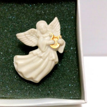 Angel Pin Lenox Pin Ivory Angel pin Womens Accessories Religious pin