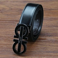 Ferragamo Trending Woman Men Stylish Smooth Buckle Belt Leather Belt