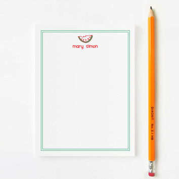 Personalized Stationery for Children - Watermelon - 10 Flat Note Cards
